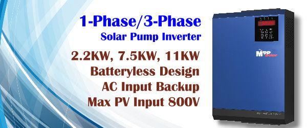 LS 3 phase MPPT PV input max 450V 50hz 60hz 2.2kw Solar pump inverter Single